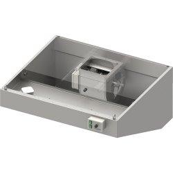 Okap przyścienny skośny ECONOMIC z łap. B,went. E3 i ośw. 2800x900x550 mm (1 segment)