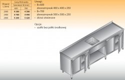 Stół zlewozmywakowy 1-zbiornikowy lo 221 - 2000x700