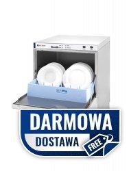 Zmywarka do naczyń 50x50 z dozownikiem detergentu i pompą spustową 400 V - sterowanie elektromechaniczne - 233054