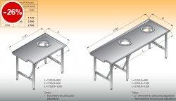 Stół sortowniczy prosty lewy lo 304 - 1700x1200 Lozamet