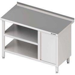 Stół przyścienny z szafką (P),i 2-ma półkami 1700x600x850 mm