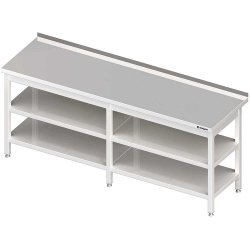 Stół przyścienny z 2-ma półkami 2600x600x850 mm spawany