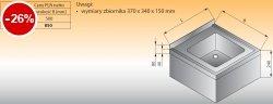 Zlewozmywak 1-komorowy ścienny lo 414 - 500x500