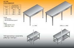 Stół roboczy lo 100 1400/700