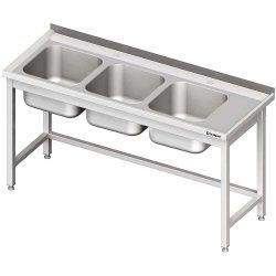 Stół ze zlewem 3-kom.(L),bez półki 1700x700x850 mm