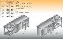 Stół zlewozmywakowy 2-zbiornikowy lo 244 - 2000x700