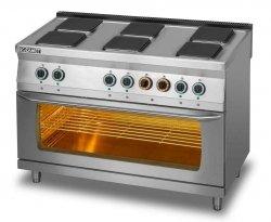 Kuchnia elektryczna 6-płytowa z piekarnikiem elektrycznym 3x GN 1/1 L700.KE6 PE max Lozamet