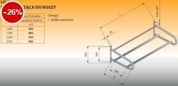 Półka wisząca do koszy lo 367 - 2200x615 Lozamet
