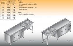 Stół zlewozmywakowy 2-zbiornikowy lo 247 - 2800x600