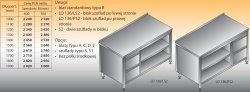 Stół roboczy z blokiem szuflad i szafką otwartą lo 136/s2 - 1100x600