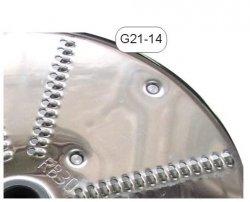 Tarcza nierdzewna wiórki 3mm - G21-14