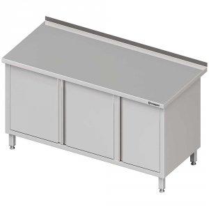 Stół przyścienny z szafką (P),drzwi skrzydłowe 1900x600x850 mm