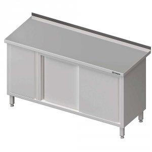 Stół przyścienny z szafką (L),drzwi suwane 1500x600x850 mm