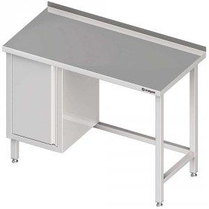 Stół przyścienny z szafką (L),bez półki 1600x600x850 mm