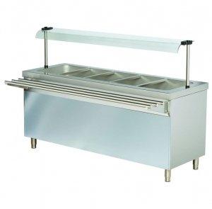 Stanowisko chłodnicze z ladą sałatkową z szafką chłodzącą RSR718FN | 1800x700x1245 | 5GN1/1