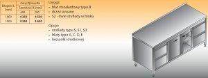 Stół roboczy z dwoma blokami szuflad i szafką lo 146/s2 - 1800x700