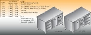 Stół roboczy z blokiem szuflad i szafką lo 138/s3 - 1600x600