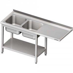 Stół ze zlewem 2-kom.(L) i miejscem na lodówkę lub zmywarkę 2300x700x900 mm