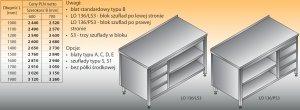 Stół roboczy z blokiem szuflad i szafką otwartą lo 136/s3 - 1100x600