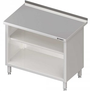 Stół przyścienny, zabudowany z 2-ma półkami 1100x700x850 mm