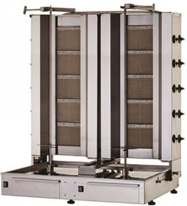 Gyros | opiekacz gazowy do kebaba podwójny | 3+3 palniki | wsad 80kg KLG153-T