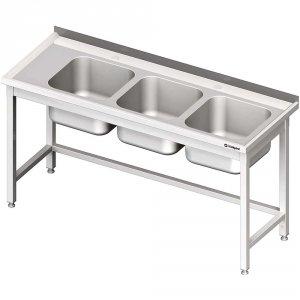 Stół ze zlewem 3-kom.(P),bez półki 1700x700x850 mm