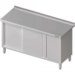 Stół przyścienny z szafką (P),drzwi suwane 1700x600x850 mm
