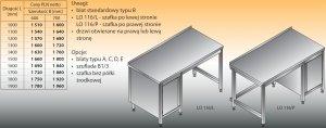 Stół roboczy z szafką lo 116/l; lo 116/p 1900/700