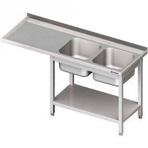 Stół ze zlewem 2-kom.(P) i miejscem na lodówkę lub zmywarkę 2200x600x900 mm
