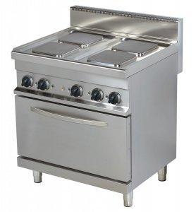 Kuchnia elektryczna  ER722K | 4-palnikowa | z piekarnikiem elektrycznym | 800x700x900 | linia 700