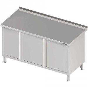 Stół przyścienny z szafką (L),drzwi skrzydłowe 1300x700x850 mm