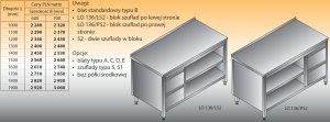 Stół roboczy z blokiem szuflad i szafką otwartą lo 136/s2 - 1800x600