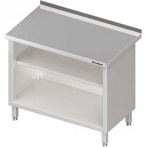 Stół przyścienny, zabudowany z 2-ma półkami 500x700x850 mm