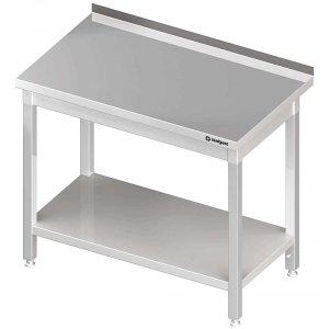 Stół stalowy z półką, przyścienny, skręcany, 1800x700x850 mm