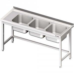 Stół ze zlewem 3-kom.(P),bez półki 1800x700x850 mm