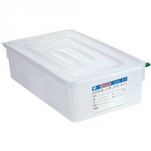 Pojemnik z polipropylenu z pokrywką szczelną, GN 1/1, H 150 mm