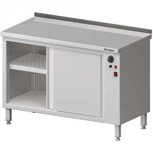 Stół przyścienny, z szafką grzewczą,drzwi suwane 1600x600x850 mm