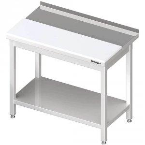 stół przyścienny z płytą polietylenową,i półką 1800x600x850 mm spawany