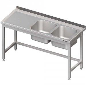 Stół ze zlewem 2-kom.(P),bez półki 1900x700x850 mm