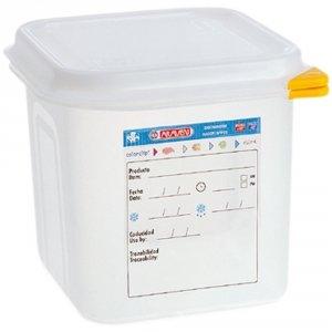 Pojemnik z polipropylenu z pokrywką szczelną, GN 1/6, H 100 mm