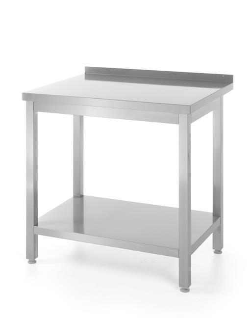 Stół roboczy przyścienny z rantem i z półką 1000x600(H)850