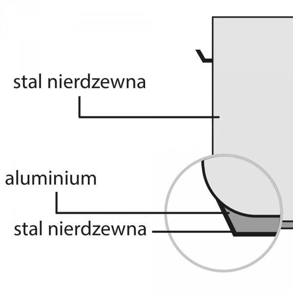 Garnek średni bez pokrywki, stalowy, O 500 mm, V 62.8 l