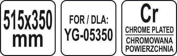 PÓŁKA ZAPASOWA DO WITRYNY 515x350 MM - YG-05415