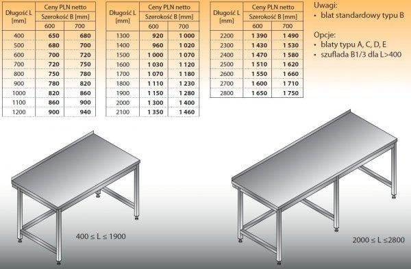 Stół roboczy lo 101 400/700