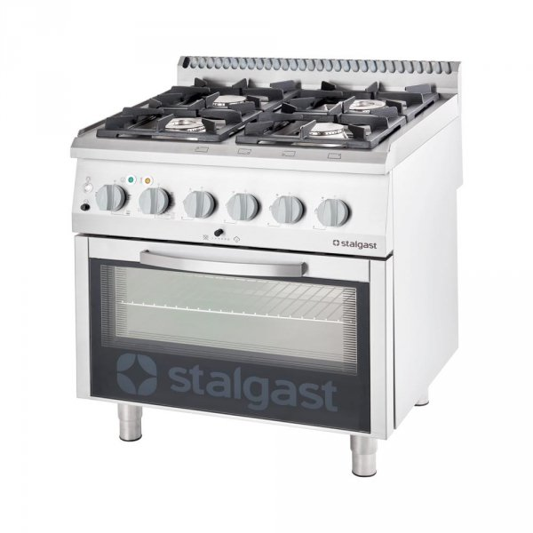 kuchnia gazowa 4 palnikowa z piekarnikiem elektrycznym 22.5kW (zestaw) - G30 (propan-butan)