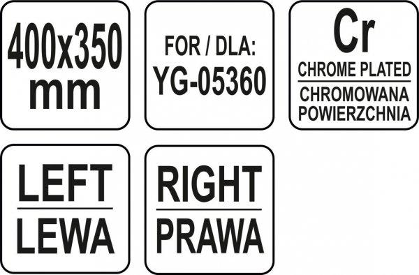 PÓŁKA ZAPASOWA DO WITRYNY 400x350 MM - YG-05418