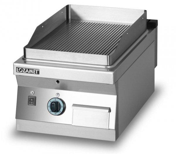 Grill płytowy gazowy - płyta ryflowana L700.GPG400R Lozamet