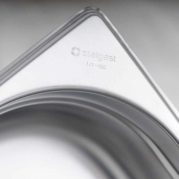 pojemnik stalowy, GN 2/1, H 100 mm