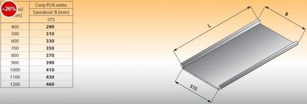 Płyta stołu przelotowego prostego lo 316 - 1000x575 Lozamet