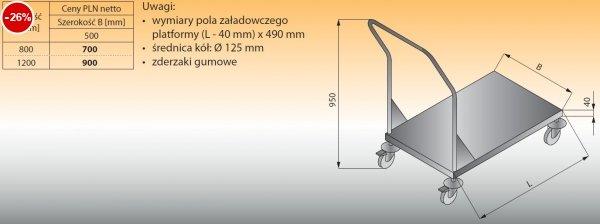 Wózek platformowy lo 801 - 800x500